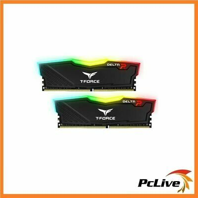 Team T-FORCE DELTA RGB 16GB DDR4 3200 Mhz Gaming Memory 2x 8GB RAM Desktop BLACK
