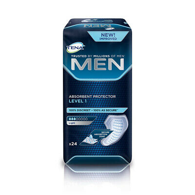 1x TENA Men Absorbent Protector - Level 1 - Pack of 24 - 150ml