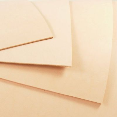 2.5mm 12inch WIDE VEG TAN LEATHER NATURAL TANNED HIDE - TOOLING & CRAFT, MULTI