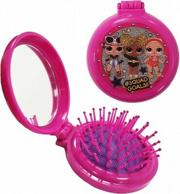 PURPLE LOL Surprise Compact Mirror And Pop Up Hairbrush/ New
