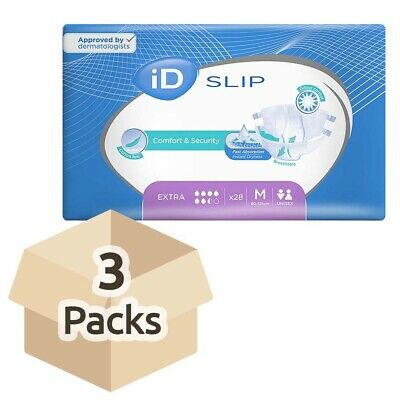 iD Expert Incontinence Slip Extra - Medium (Cotton Feel) - Case - 3 Packs of 28