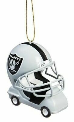 Oakland Raiders Ornament Field Cart Helmet Resin NFL Football Christmas Holiday
