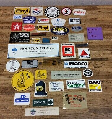 Lot Of 41 New Old Stock Oil Field, Chemical, Tool Decal Stickers U-6