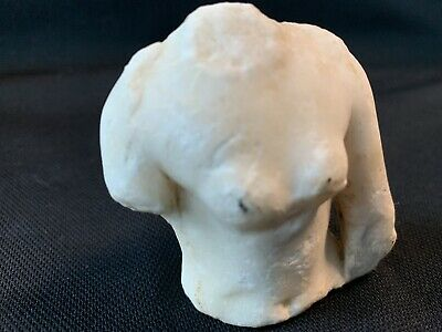 EXTREMELY RARE Ancient Greek Roman Marble Female Torso Bust Statue