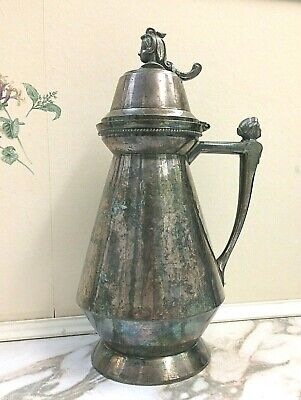 ANTIQUE. Pitcher. Rare. Pairpoint MFG.Co.Quadruple Silver Plated. 1710 .Tea pot