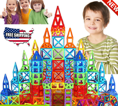 Magnetic Gift Tiles Magnetic Building Blocks for Kids with Wheels Toys 100 Piece