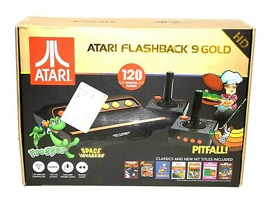 Atari Flashback 9 Gold Classic Game Console w 120 Games & 2 Controllers