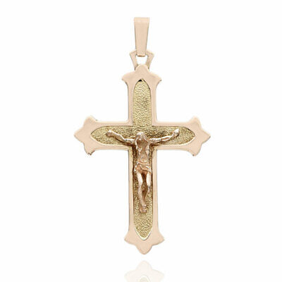14KY Crucifix Cross Pendant
