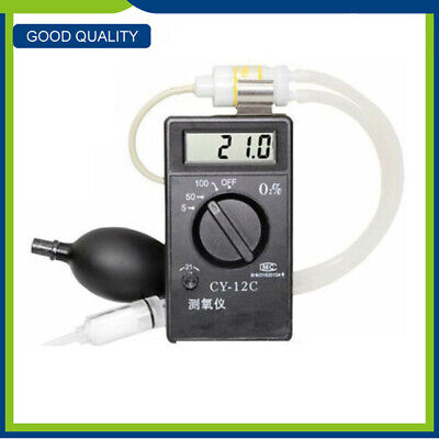 CY-12C Oxygen Concentration Tester Meter Detector Oxygen Purity Analyzer Black