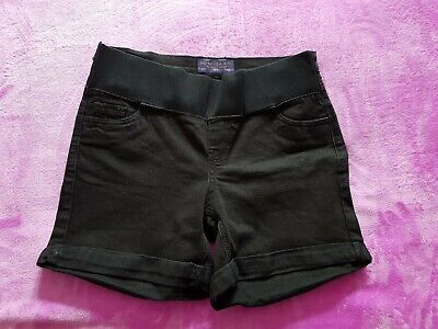 Forever Fit maternity Size 8/EUR 36 under bump denim shorts - Black