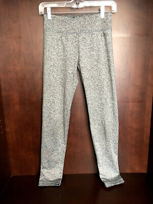 Justice Girl's Heather Gray Stretch Yoga Leggings Pants Size 14
