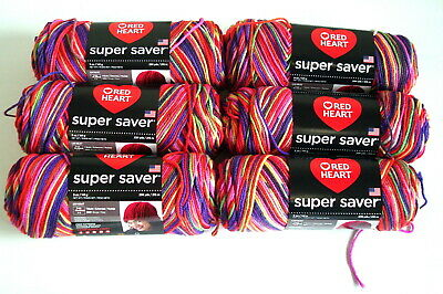 Red Heart Super Saver Accent Yarn Crochet Butterfly 6 Balls Case Lot Sale NEW