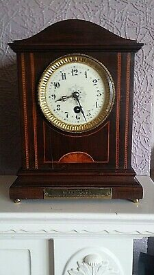 edwardian mahogany mantal clock