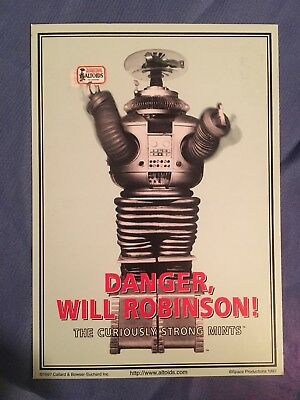 Lost In Space Classic Tv Robot Danger Will Robinson Postcard Altoids Mint Card