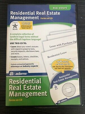 Adams Residential Real Estate Property Management Forms on CD Windows Mac