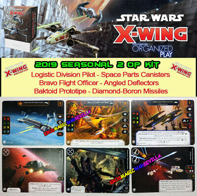 STAR WARS X-WING 2.0 2019 SEASON 2 OP KIT - 6 Promo Cards Full Art - New