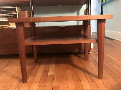 George Nakashima Sundra Walnut Origins Nightstand for Widdicomb Side End Walnut