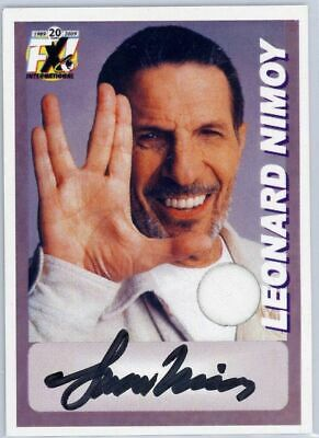 Leonard Nimoy Autograph Live Long SWATCH Auto From 2009 Con in Florida Star Trek