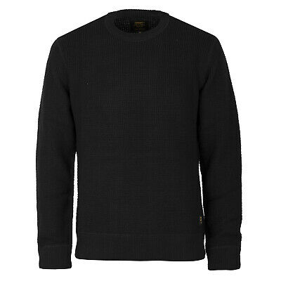 Carhartt wip Mason Knitted Sweater Black - Carhartt Pullover in Military Look