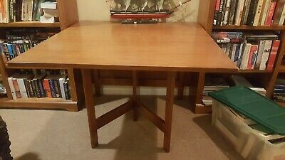 Vintage Mid-Century GEORGE NELSON for HERMAN MILLER Drop Leaf Gate Leg Din Table