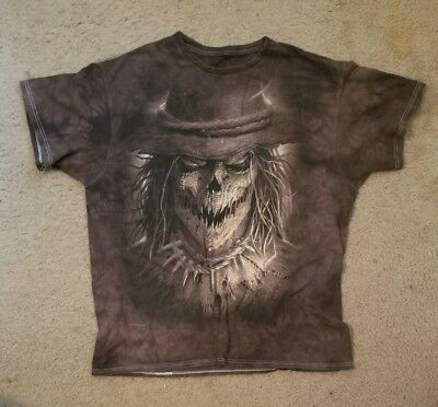 Mens Vintage 90s DC Comics ScareCrow Nightmare Brown White Dream Shirt Size XL