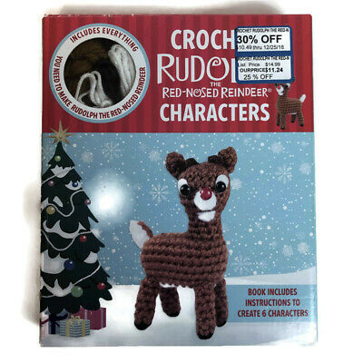 Rudolph The Red Nosed Reindeer Complete Crochet Kit Christmas Holiday New