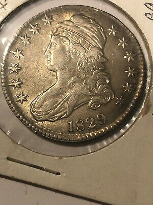1829 Capped Bust Half Dollar, Nice Collector Silver Half. XF With Some AU Detail