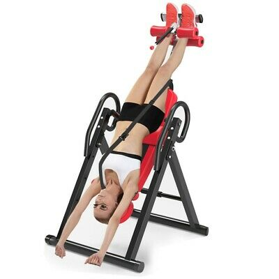 Heavy Duty Foldable Premium Gravity Inversion Table Sport Back Therapy Fitness
