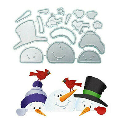 Snowman Metal Cutting Dies Embossing Stencil Scrapbooking Album Card DIY Craft