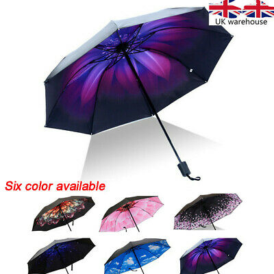 1 Double Layer Inverted Reverse Hand-free Upside Down Umbrella Windproof folding
