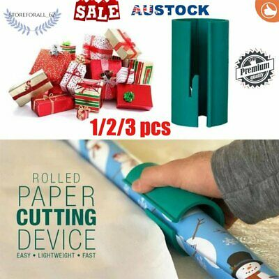AU STOCK Sliding Wrapping Paper Cutter Christmas Craft Seconds Wrap 1/2/3/4Pc RK