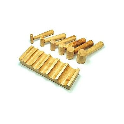 Wooden U Shape Channel Dapping Doming Forming Swage Block & 6 Punches. J1200