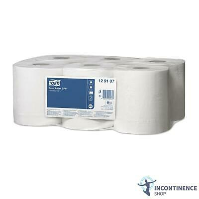 Tork Basic Centerfeed Paper 2-Ply White - Pack of 6 Rolls