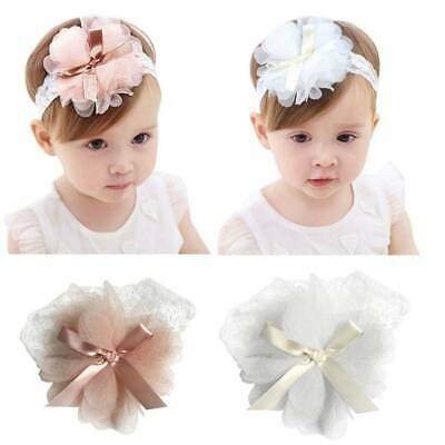 1pc Baby Girls Toddler Lace Flower Hair Band Headwear Kids Headband Accessories_