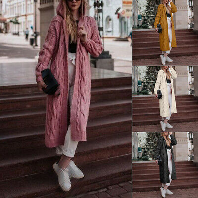 Women Coat Girls Tops Winter Hooded Coat Cardigan Fashion Autumn Knitwear Tops