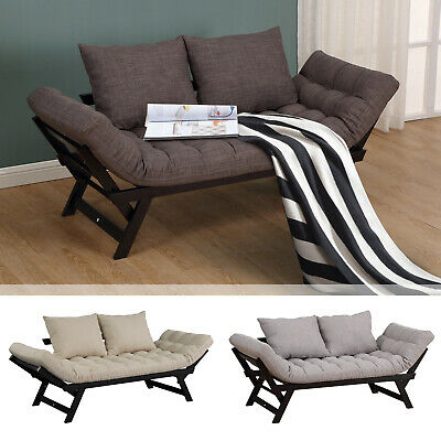 CONVERTIBLE ADJUSTABLE 3-POSITION Sofa Bed Couch Chaise ...