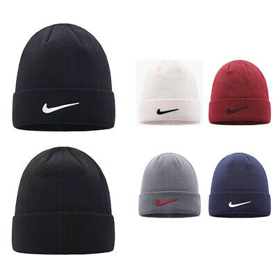 Mens Womens Stylish Classic Knitted Beanie Hat Winter Running Sports Tour Unisex