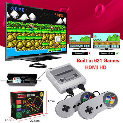 Retro NES Mini SFC Video TV Game Console Classic Edition Built-in 621 Games HDMI