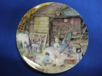 Fabulous Porcelain Collector Plate The Wheelwright Royal Doulton England