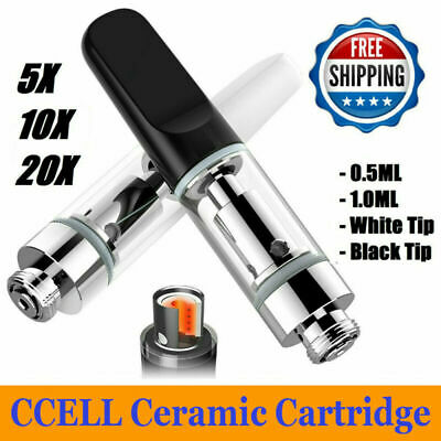0.5/1.0ML alloy Ceramic Tip Cartridge Coil Pyrex Tank for CCELL Accessories LOT