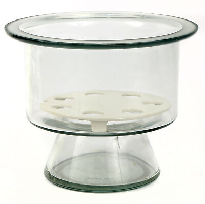 USED Pyrex 8 Inch Glass Desiccator without Lid with Coors Ceramic Plate