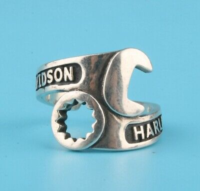 Preciou Chinese 925 Silver Ring Wrench Solid Hand-Made Mascot Collection Gift
