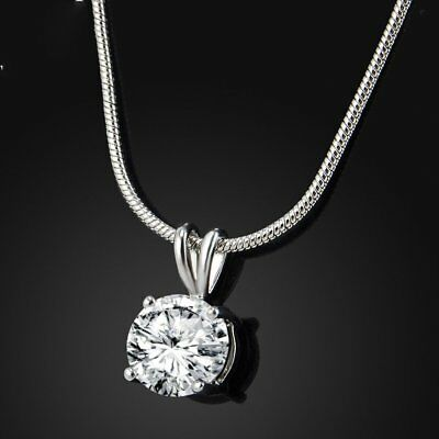 Chic Crystal Diamond Necklaces Pendant Chain Silver Women Charms Jewlery Gift