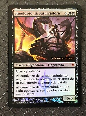 MTG Magic The Gathering, Sheoldred, Whispering One, Pre-Release, Spanish, Look!