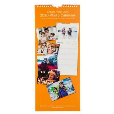 WHSmith 2020 Create Your Own Photo Calendar Slim Month To View Spiral Bound