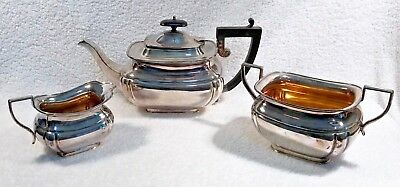 Fenton Brothers London Sheffield Silver Plate 2420 Tea Coffee Set  - 3 Piece Set