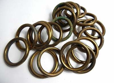 French Vintage Gold Coloured Metal Curtain Rings 54 Rings Very 'Shabby'