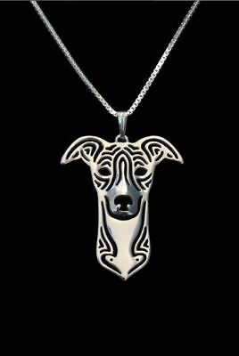 Whippet Pendant Necklace Collectable Jewellery Gift with 18 inch Chain - Silver