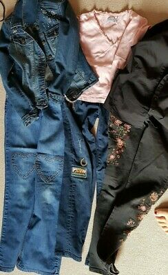 11-12 Girls Bundle embroidered applique jeans, jacket, Boden  Jigsaw, M&S, Mango