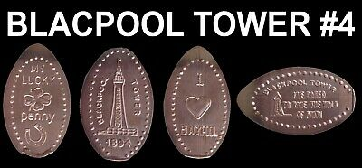 UK Elongated Coin Pressed Penny Blackpool Tower 4 full set retired rare